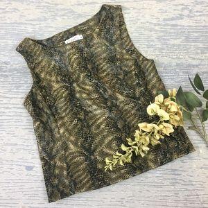 CDC petite snake print sleeveless top